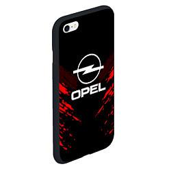 Чехол iPhone 6/6S Plus матовый Opel: Red Anger цвета 3D-черный — фото 2