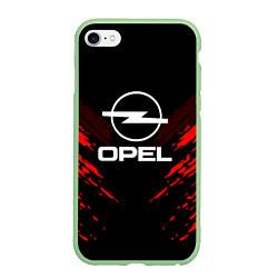 Чехол iPhone 6/6S Plus матовый Opel: Red Anger цвета 3D-салатовый — фото 1