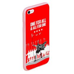 Чехол iPhone 6/6S Plus матовый One for all & all for one цвета 3D-баблгам — фото 2