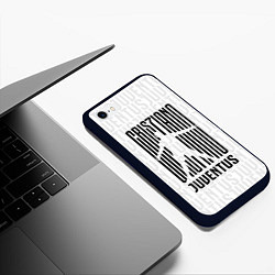 Чехол iPhone 6/6S Plus матовый Cris7iano Juventus цвета 3D-черный — фото 2