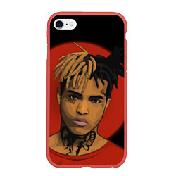 Чехол iPhone 6/6S Plus матовый XXXTentacion: Red Sun цвета 3D-красный — фото 1