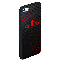 Чехол iPhone 6/6S Plus матовый CS:GO Grey Carbon цвета 3D-черный — фото 2