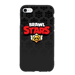 Чехол iPhone 6/6S Plus матовый Brawl Stars: Black Team цвета 3D-черный — фото 1