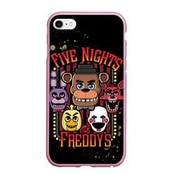 Чехол iPhone 6/6S Plus матовый Five Nights At Freddy's цвета 3D-розовый — фото 1