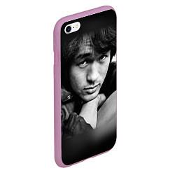 Чехол iPhone 6/6S Plus матовый Виктор Цой цвета 3D-розовый — фото 2