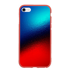 Чехол iPhone 6 Plus/6S Plus матовый Синий и красный