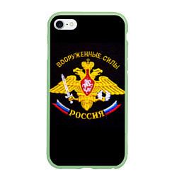 Чехол iPhone 6 Plus/6S Plus матовый ВС России: вышивка