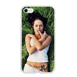 Чехол iPhone 6 Plus/6S Plus матовый Анджелина Джоли