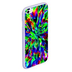 Чехол iPhone 6/6S Plus матовый Оксид красок цвета 3D-светло-сиреневый — фото 2
