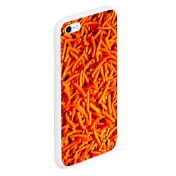Чехол iPhone 6/6S Plus матовый Морковь цвета 3D-белый — фото 2