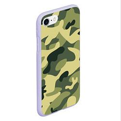 Чехол iPhone 7/8 матовый Камуфляж: зеленый/хаки цвета 3D-светло-сиреневый — фото 2