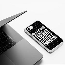 Чехол iPhone 7/8 матовый Lift Like A Beast Squat цвета 3D-белый — фото 2