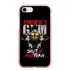 Чехол iPhone 7/8 матовый Powerful Gym цвета 3D-баблгам — фото 1