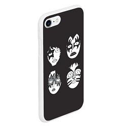 Чехол iPhone 7/8 матовый KISS Mask цвета 3D-белый — фото 2