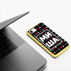 Чехол iPhone 7/8 матовый Миша цвета 3D-желтый — фото 2