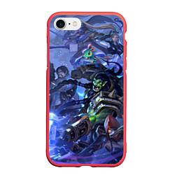 Чехол iPhone 7/8 матовый HotS 4 цвета 3D-красный — фото 1