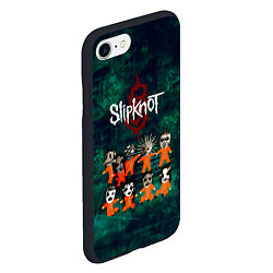 Чехол iPhone 7/8 матовый Группа Slipknot цвета 3D-черный — фото 2