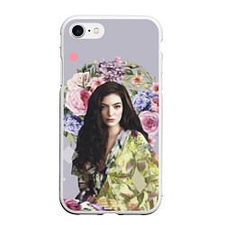 Чехол iPhone 7/8 матовый Lorde Floral цвета 3D-белый — фото 1