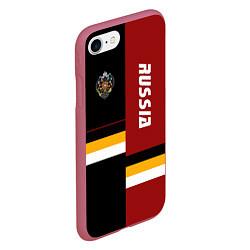 Чехол iPhone 7/8 матовый Russian Empire цвета 3D-малиновый — фото 2