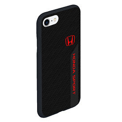 Чехол iPhone 7/8 матовый Honda: Sport Line цвета 3D-черный — фото 2