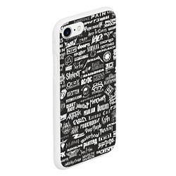 Чехол iPhone 7/8 матовый Rock Star цвета 3D-белый — фото 2