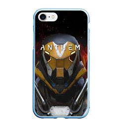 Чехол iPhone 7/8 матовый ANTHEM Soldier цвета 3D-голубой — фото 1