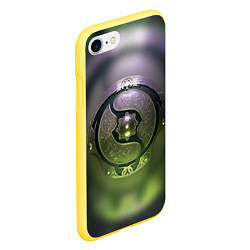 Чехол iPhone 7/8 матовый The International: Aegis 2018 цвета 3D-желтый — фото 2