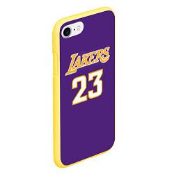 Чехол для iPhone 7/8 матовый с принтом NBA Lakers 23, цвет: 3D-желтый, артикул: 10158519305885 — фото 2