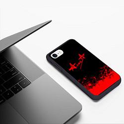 Чехол iPhone 7/8 матовый АлисА на спине цвета 3D-черный — фото 2
