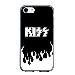 Чехол iPhone 7/8 матовый Kiss цвета 3D-серый — фото 1