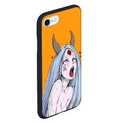 Чехол iPhone 7/8 матовый Ahegao Kaguya цвета 3D-черный — фото 2