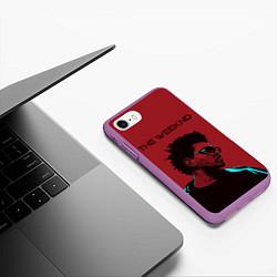 Чехол iPhone 7/8 матовый The weeknd цвета 3D-фиолетовый — фото 2