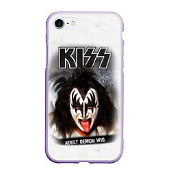 Чехол iPhone 7/8 матовый KISS: Adult demon wig цвета 3D-светло-сиреневый — фото 1