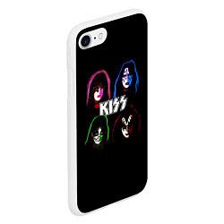 Чехол iPhone 7/8 матовый KISS: Acid Colours цвета 3D-белый — фото 2