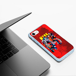 Чехол iPhone 7/8 матовый KISS: Hot Blood цвета 3D-голубой — фото 2