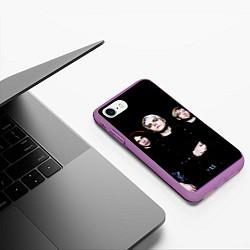Чехол iPhone 7/8 матовый My Chemical Romance цвета 3D-фиолетовый — фото 2