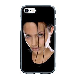 Чехол iPhone 7/8 матовый Tomb Rider цвета 3D-серый — фото 1