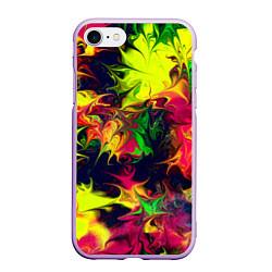 Чехол iPhone 7/8 матовый Кислотный взрыв цвета 3D-сиреневый — фото 1