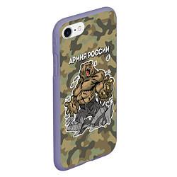 Чехол iPhone 7/8 матовый Армия России: ярость медведя цвета 3D-серый — фото 2
