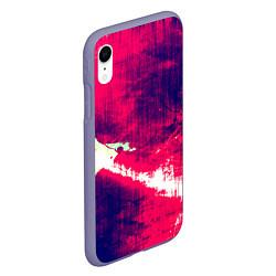 Чехол iPhone XR матовый Брызги красок цвета 3D-серый — фото 2
