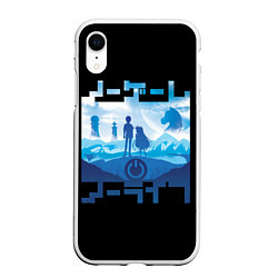 Чехол iPhone XR матовый No Game No Life цвета 3D-белый — фото 1