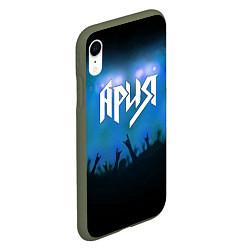 Чехол iPhone XR матовый Ария цвета 3D-темно-зеленый — фото 2