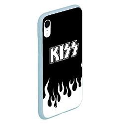 Чехол iPhone XR матовый Kiss цвета 3D-голубой — фото 2