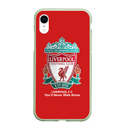 Чехол iPhone XR матовый Liverpool цвета 3D-салатовый — фото 1