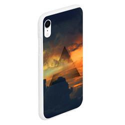 Чехол iPhone XR матовый 30 seconds to mars цвета 3D-белый — фото 2
