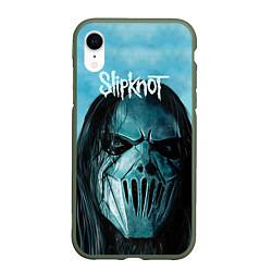 Чехол iPhone XR матовый Slipknot цвета 3D-темно-зеленый — фото 1