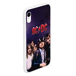 Чехол iPhone XR матовый AC/DC цвета 3D-белый — фото 2