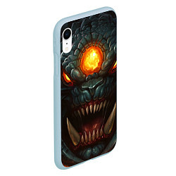 Чехол iPhone XR матовый Roshan Rage цвета 3D-голубой — фото 2