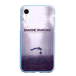 Чехол iPhone XR матовый Imagine Dragons: Silence цвета 3D-голубой — фото 1