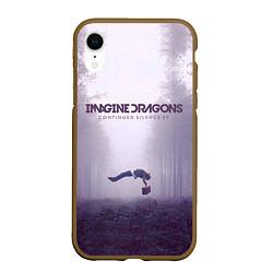 Чехол iPhone XR матовый Imagine Dragons: Silence цвета 3D-коричневый — фото 1